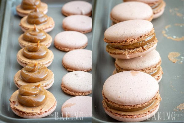 Dulce de Leche Macaron Recipe uses Coffee Flavored Italian Macaron Shell recipe and dulce de leche as the filling. Gluten free, coffee flavored little meringue confections are amazing with a cup of coffee.