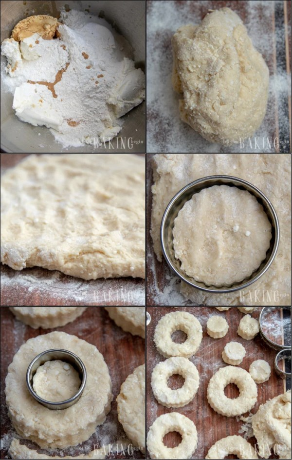 Step by step photos for making Quick Fried Donuts