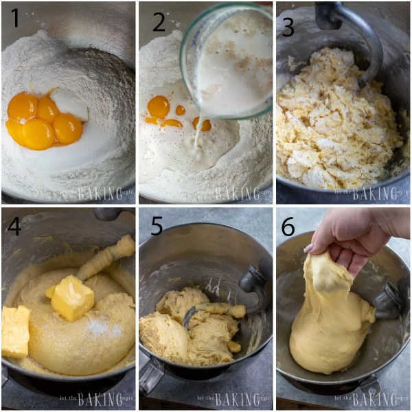 Step by step pictures to making the sweet bread yeast dough recipe