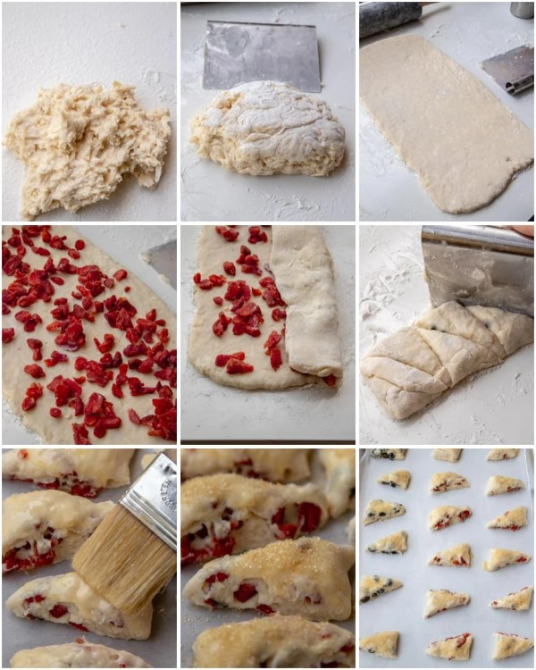 How to make strawberry scones step by step.