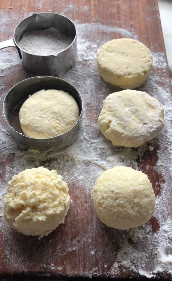 Syrniki dough prior to frying