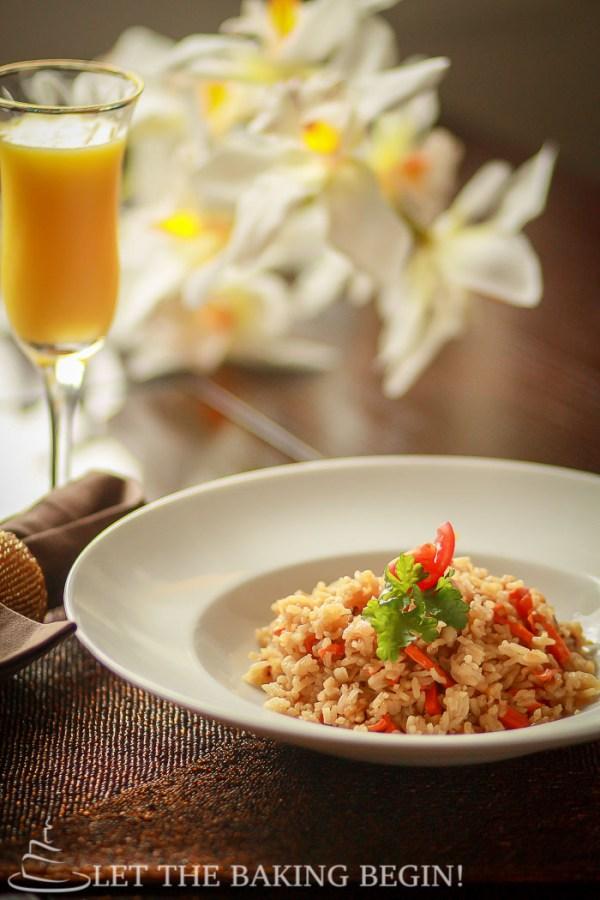 Simple Fried Rice - LetTheBakingBeginBlog.com | @Letthebakingbgn