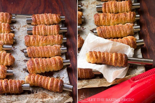 Cream Horns with Whipped Cream Filling - Trubochki @ LetTheBakingBeginBlog.com