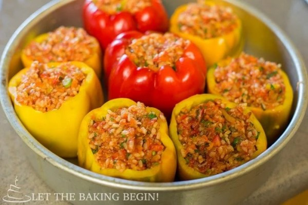 Stuffed Peppers - Soft Flavorful Pepper Shell encasing the most delicious Beef Rice filling. by Let the Baking Begin!