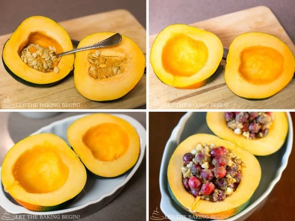 Delicious Acorn squash infused with beautiful flavors of Orange, while soaking with sweet juices of Brown Sugar, Melted Butter and White Chocolate. by Let the Baking Begin!