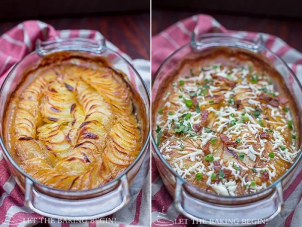 Chicken Mushroom & Potato Casserole – my whole family enjoys this delicious comfort food dish that's as delicious as it is fancy. | LetTheBakingBeginBlog.com | @Letthebakingbgn