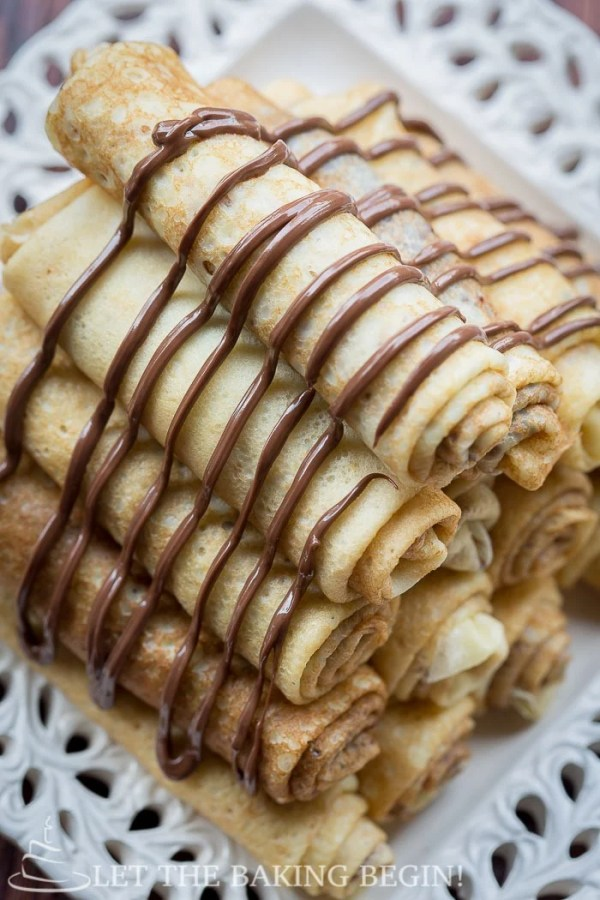 Nutella Stuffed Crepes & 3 Ways to Fold Them   By LetTheBakingBeginBlog.com   @Letthebakingbgn