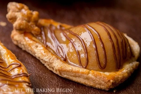 Poached Pears and Nutella Pastries by Let the Baking Begin!