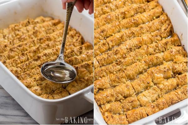 Pistachio-Walnut Baklava Rolls   by Let the Baking Begin!