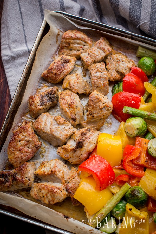 30 Minute Meal - Kabob Style Pork and Vegetables | Let the Baking Begin!