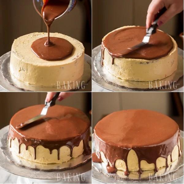 Ptiche Moloko Cake (Bird's Milk Cake) - Layered Cake of Chocolate Angel Food Cake and Custard Buttercream   By Let the Baking Begin!