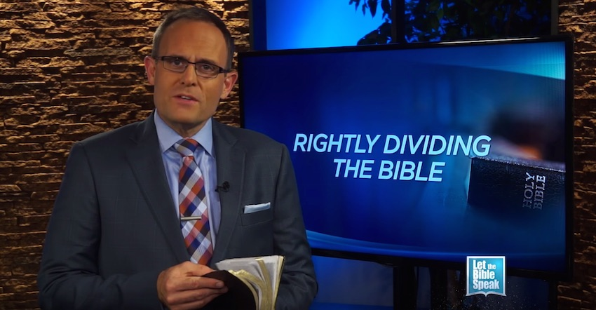Rightly Dividing The Bible - Part 1 (The Text) - LET THE BIBLE SPEAK TV with Kevin Presley