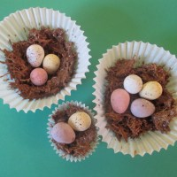 Chocolate Easter Egg Nests to make with Kids!