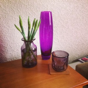 Vase from TK Maxx and jars from Next