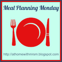 Meal Plan – WC 19th May