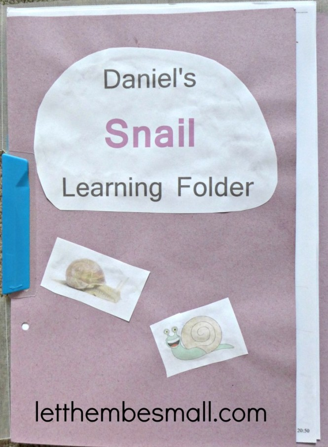 ideas for EYFS learning folder