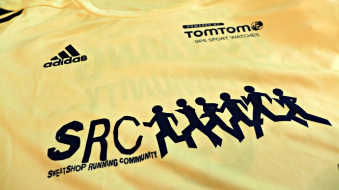 sweatshop running club shirt