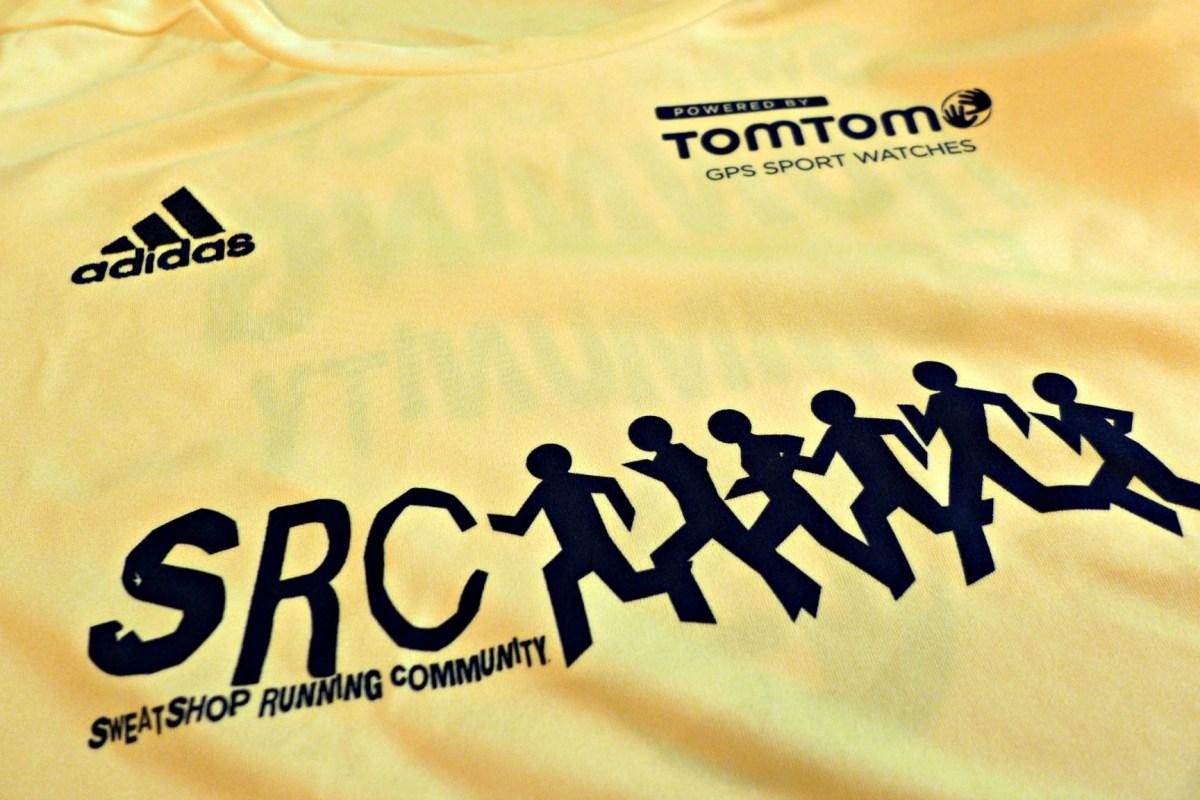 sweatshop running club shirt