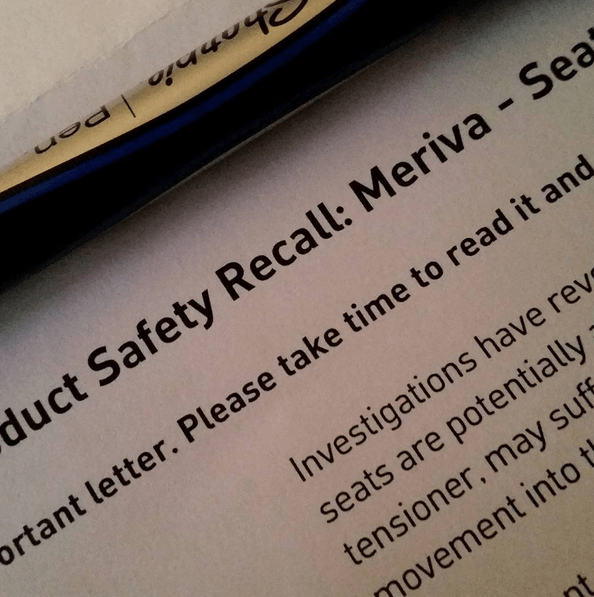 When your car is subject to a product safety recall