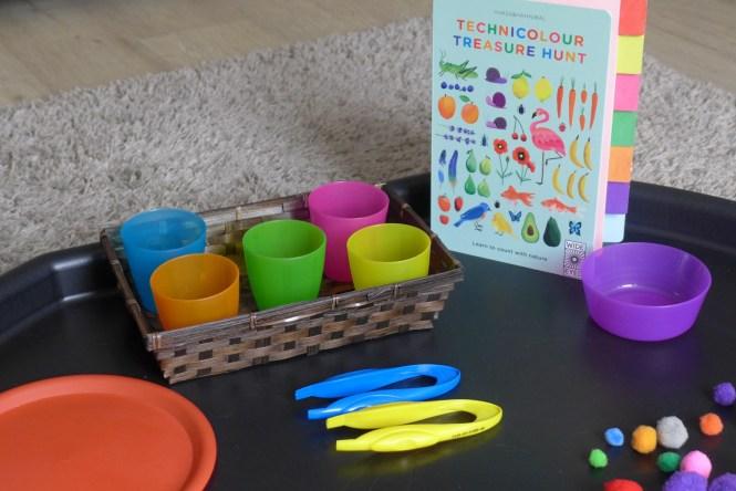 Pre school colouring sorting activity