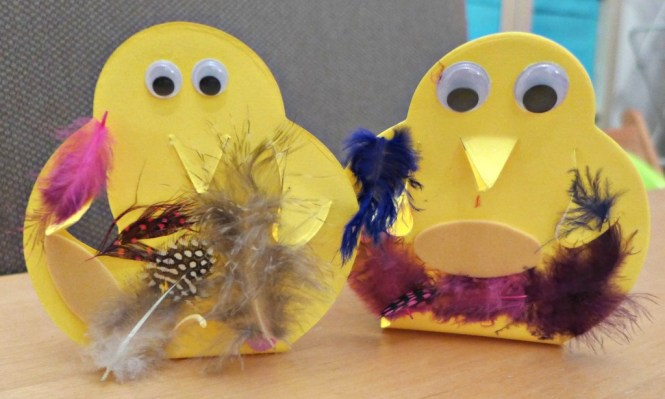 easter chick boxes
