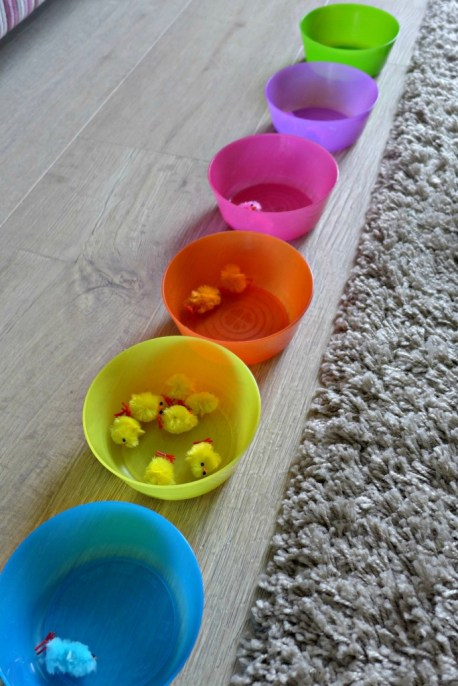 easter tuff spot colouring sorting