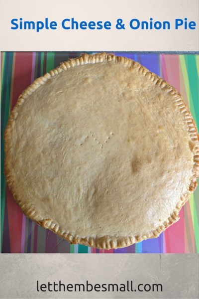 this cheese and onion pie is super simple and good fun to make with children