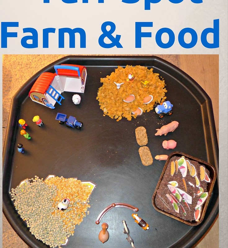 Farm and Food tuff spot activity to help children understand where food comes from