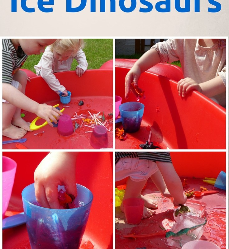 this ice dinosaur activity is perfect for introducing early science ideas to pre schoolers
