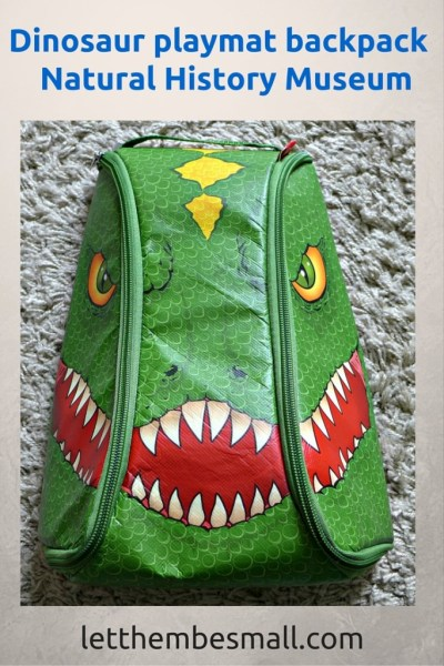 This dinosaur play mat folds into a backpack and is the perect take along treat for summer picnics. From the natural history museum