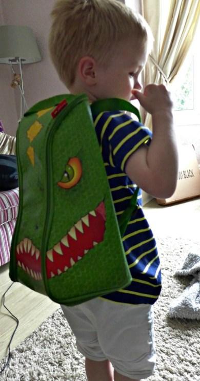 Dinosaur playmat backpack from NHMShop