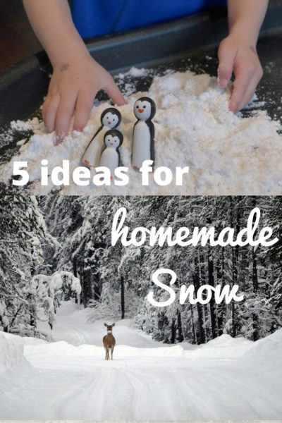 Five ideas for home made snow plus extenstion activities for pre schoolers