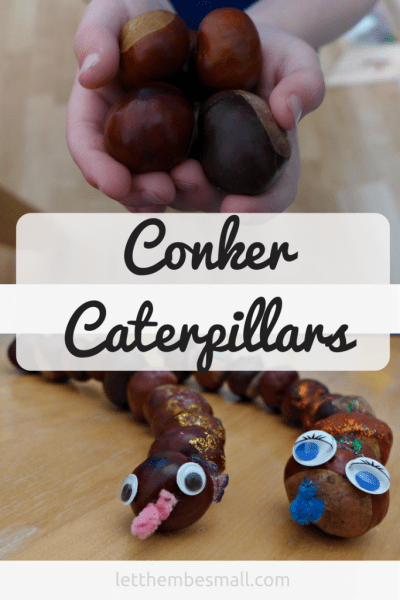 these conker caterpillars are a great way to use conkers this autumn fall