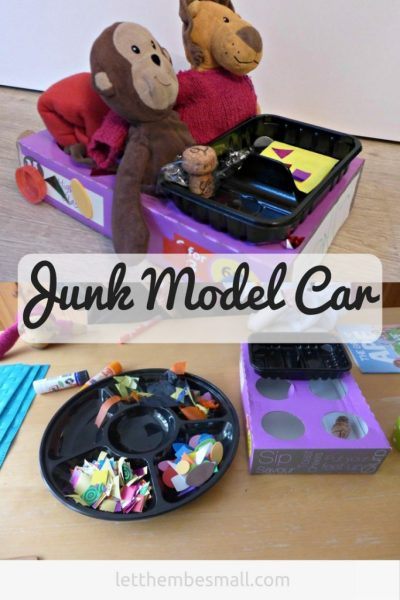 This is a great idea for junk modelling that Children will love
