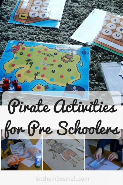 ideas for activities for pirate themes or talk like a pirate day