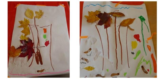 autumn leaf art for pre schoolers