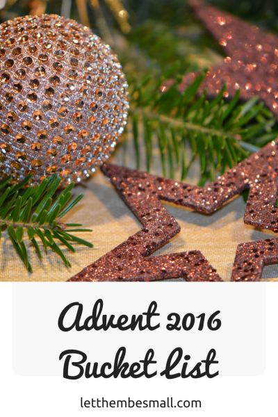 Quick and easy advent ideas in our advent bucket list