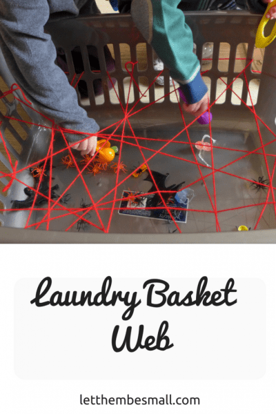 this laundry basket web is a quick and easy activity to set up and is perfect for fine motor skill development