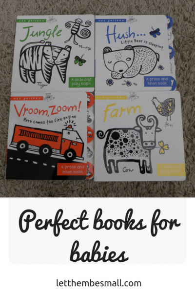 perfect baby books like these from the wee gallery range are great for little eyes and hands