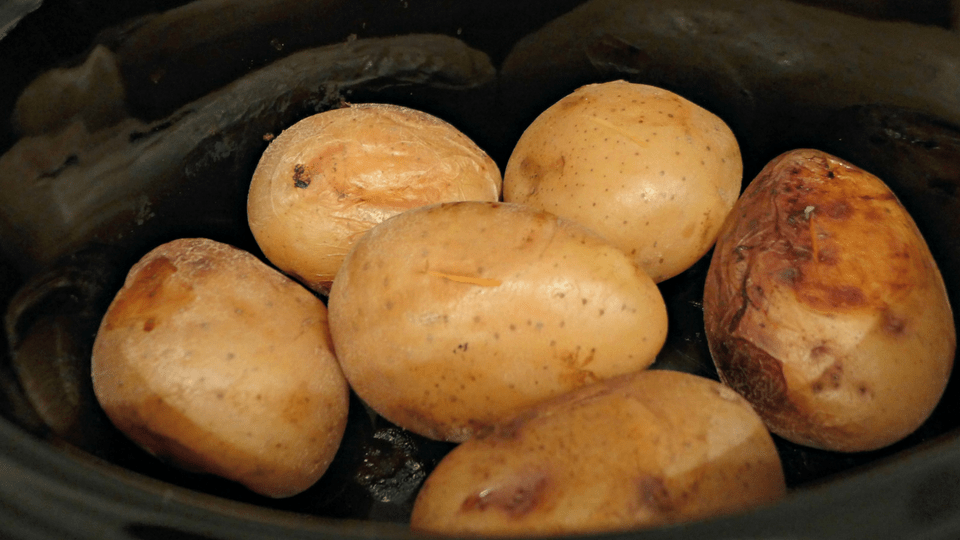 Slow Cooker Jacket Potatoes