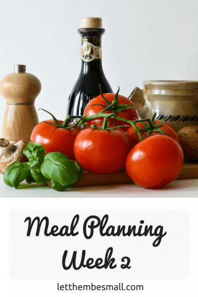 meal planning has helped me to cut back on waste and save money. here is our week 2 plan