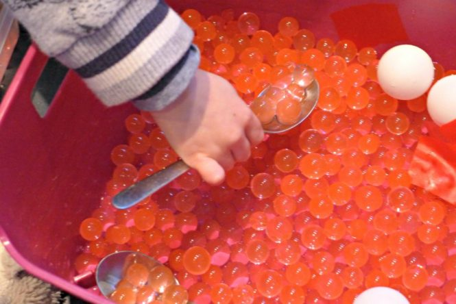 what is blood sensory bin - perfect for pre schoolers