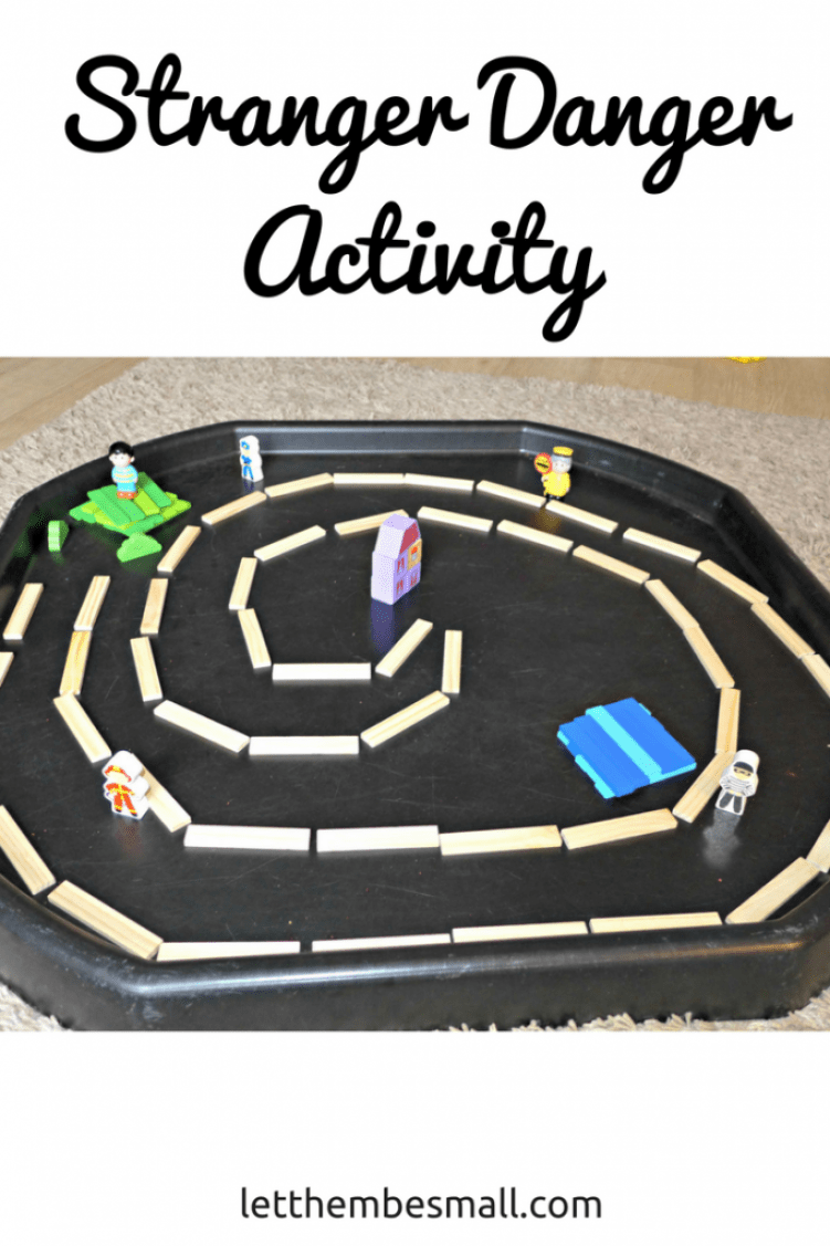 see this stranger danger tuff spot activity - perfect for preschool and KS1 age children