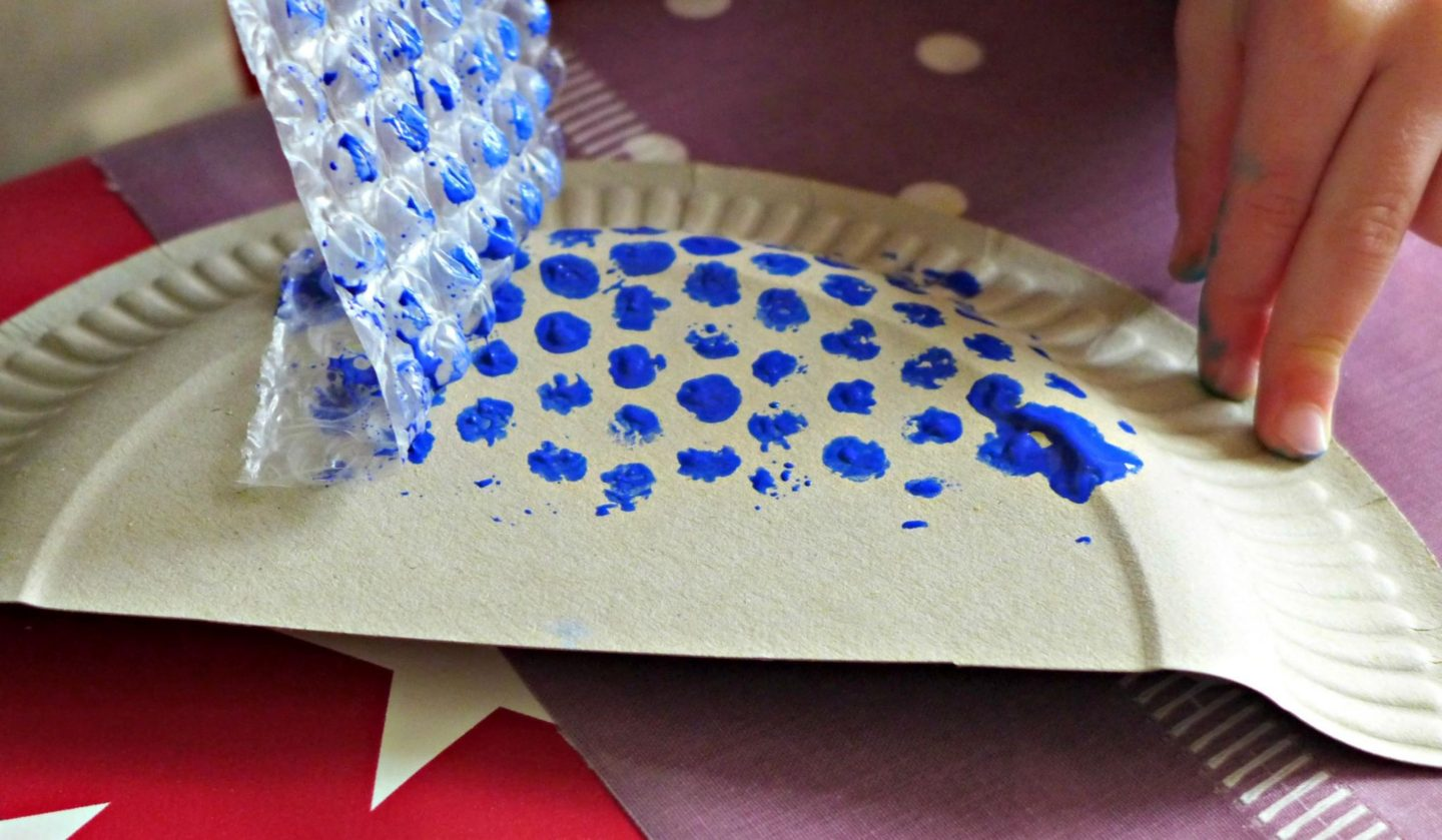 paper plate whale
