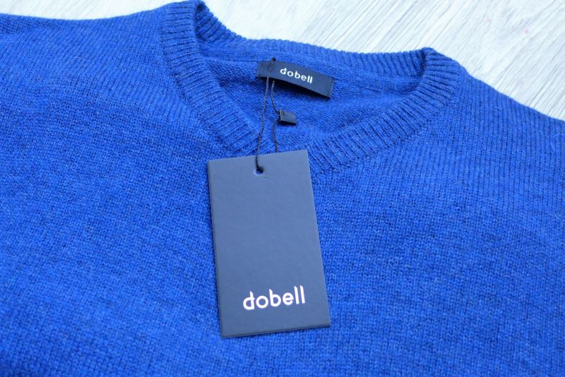 dobell blue lambswool mens jumper