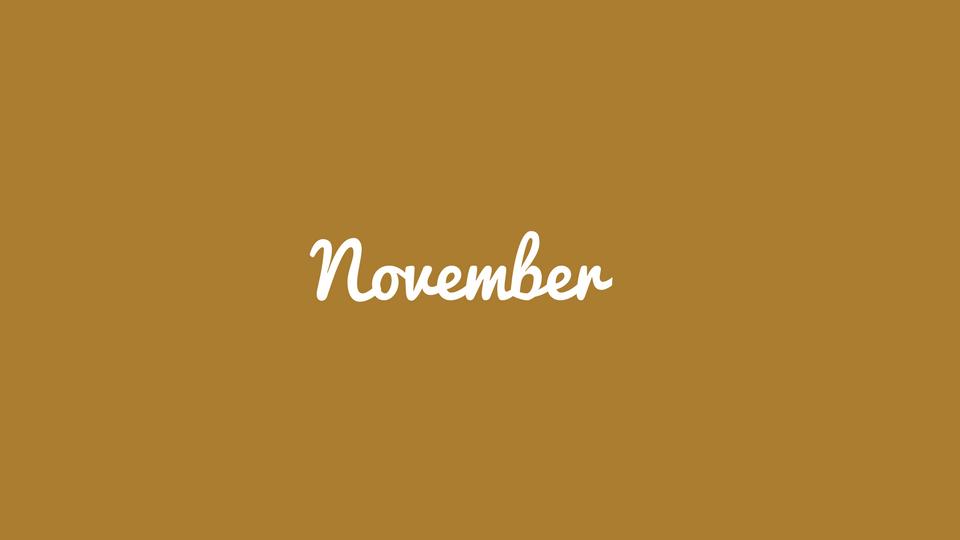 11/12 – November