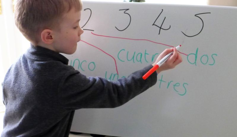 matching spanish words and numbers