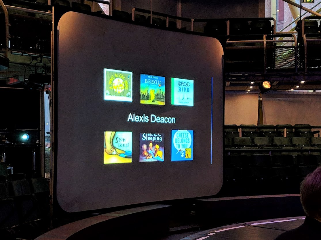 children's bookshow with Alexis Deacon at Manchester