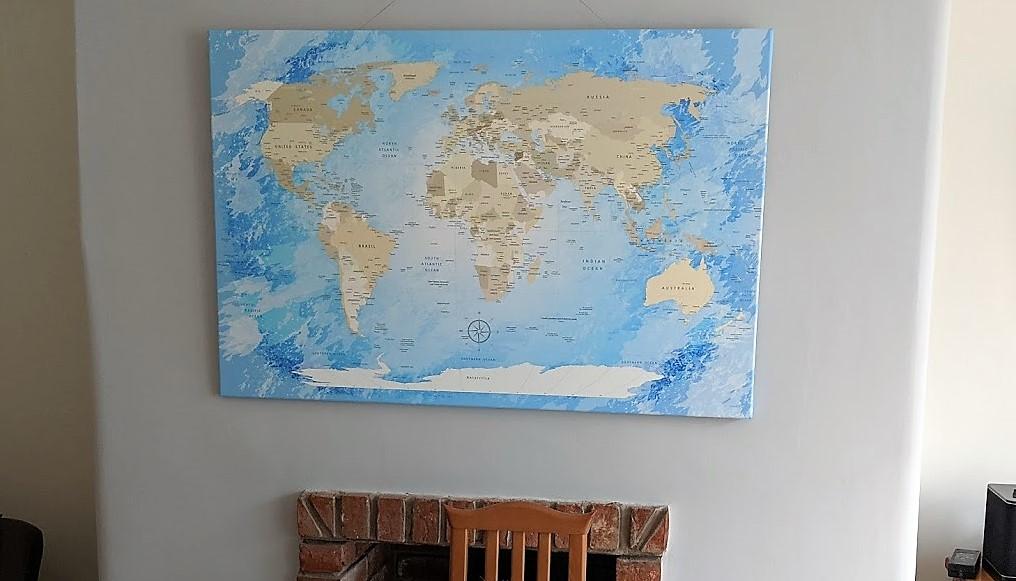 lanka kk canvas map