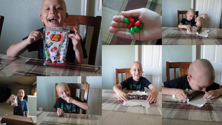 jelly bean and jumior mint collage